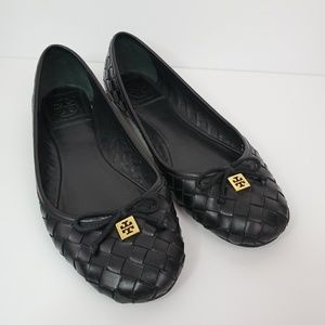 Tory Burch Woven Leather Flats Size 7M